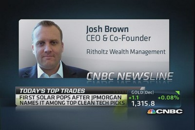 Cnbc halftime report final trades today